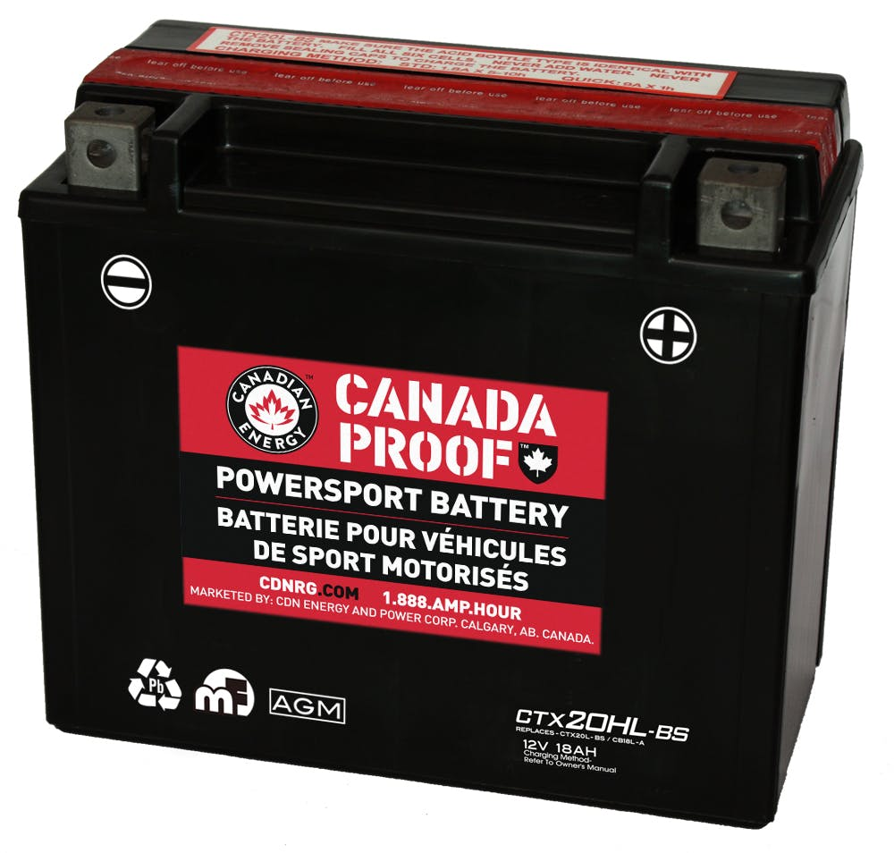 Sealed AGM Powersport - CTX20HL-BS - Power Sport Batteries