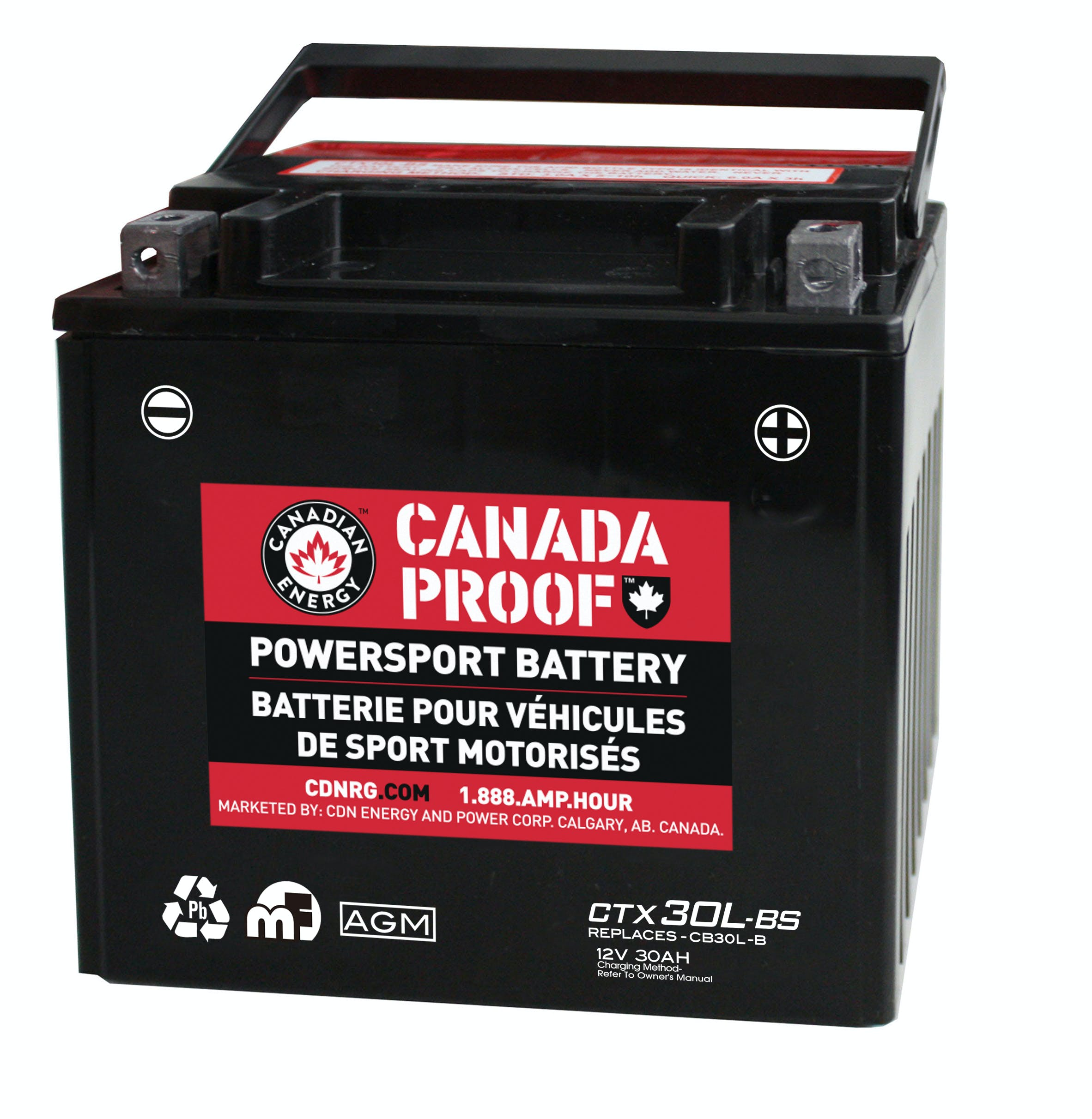 Sealed AGM Powersport - CTX30L-BS - Power Sport Batteries